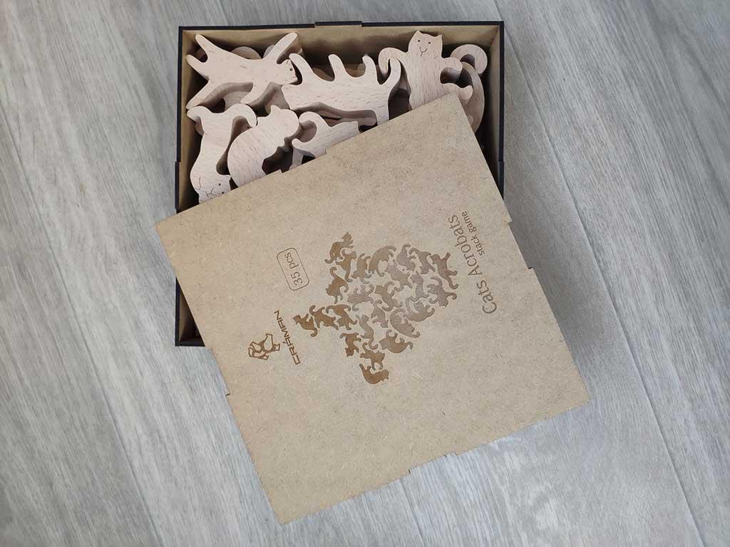 Игра коты-акробаты в подарочной коробке