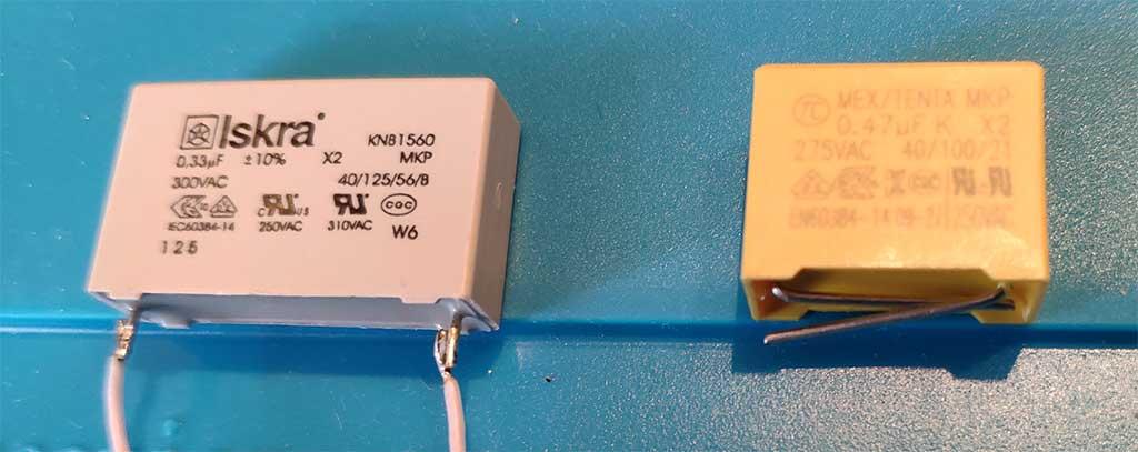 Старый и новый конденсатор