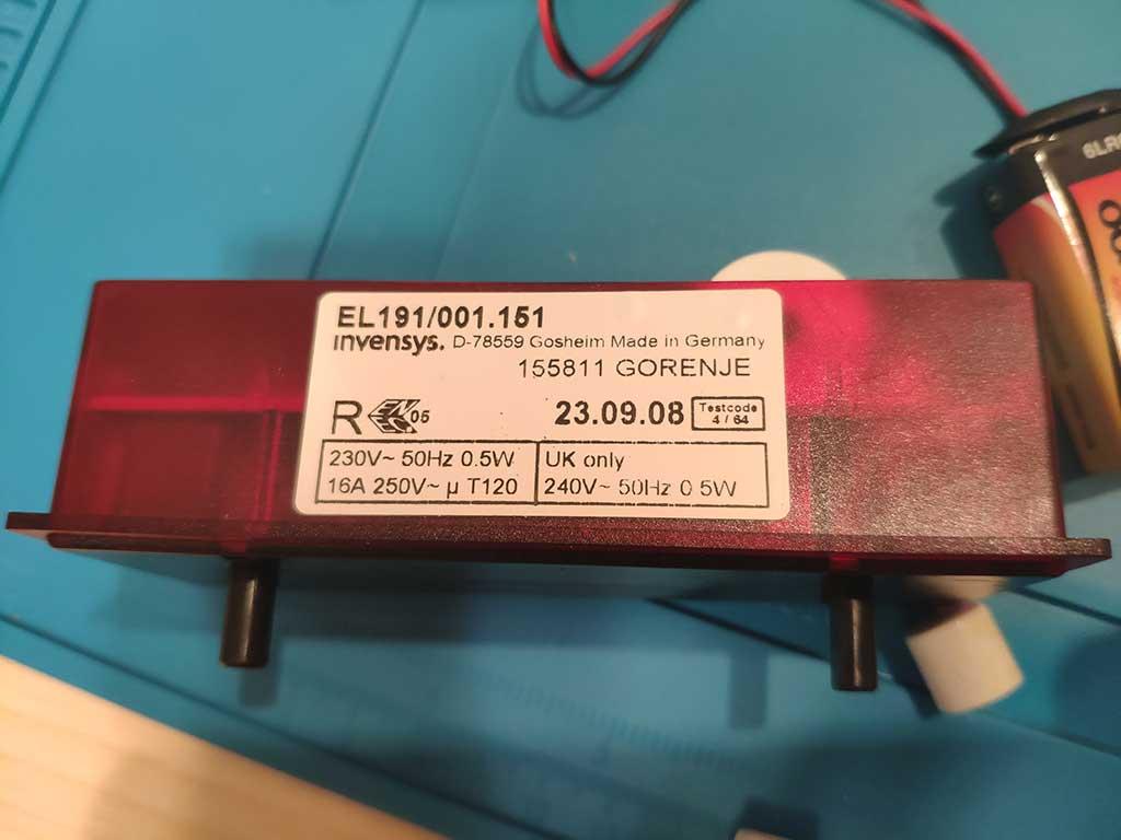 Модуль таймера EL191/001.151 для плиты Gorenje EC 275W